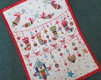 Modern Advent Calendar,  Christmas Decoration, Wallhanging, Holiday Decor  READY TO SHIP