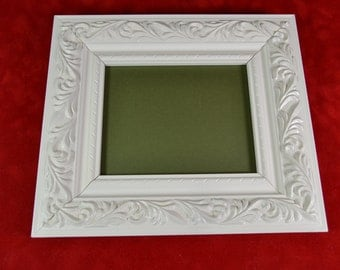 Satin White Ornate Photo Frame - Picture Frame for ACEO or Small Photos - Buy 3 Get 1 FREE