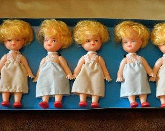 Vintage Baby Dolls Lot of Six Dolls In Original Box