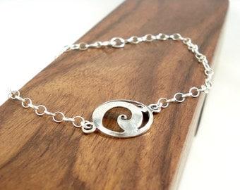 Sterling Silver Swirl Bracelet Bracelet Argent Volute Gift Idea Jewellery Minimalist Jewelry