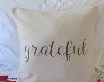 Grateful Pillow Cover