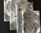 Large cloth napkins,wedding napkins,handmade napkins,napkins,reusable dinner napkins,gray napkins ,eco friendly napkins