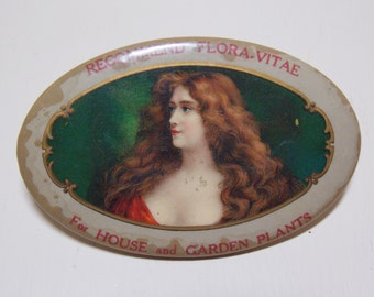 Flora Vitae Advertising Pocket Mirror Promotional items for House and Garden Plants