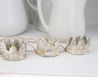 3 CARTAPESTA CRowns, French paper mache, The Shore France crowns, Jeanne d arc Style