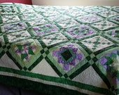 Gorgeous in Green Large King/Queen Size Quilt
