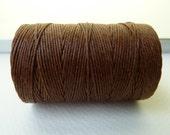 SALE - Walnut Brown Irish Waxed Linen Cord, 4 Ply, 50 Gram Spool, 100 Yds - SALE