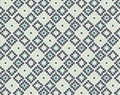 Two Tone Navy and Blue Diamond Geometric JERSEY KNIT, Woodland Spring Designs Dani for Riley Blake Designs, Geometric Print in Coral, 1 Yard