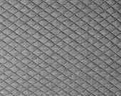 Charcoal Grey Diamond Quilted Jacquard Knit, 1 Yard