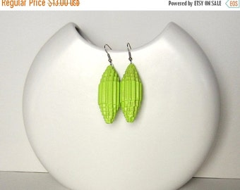 25% Off lime green: Statement Earrings - paper beads