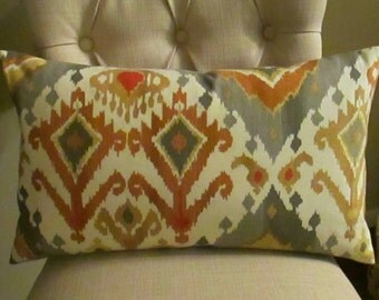 SALE One Lumbar  Pillow Cover Alessandro fabric Both Sides Pick Your Size
