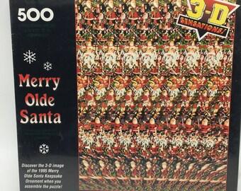Vintage Hallmark Springbook Merry Olde Santa Puzzle NOS 1994 Sealed NEW 500 pcs
