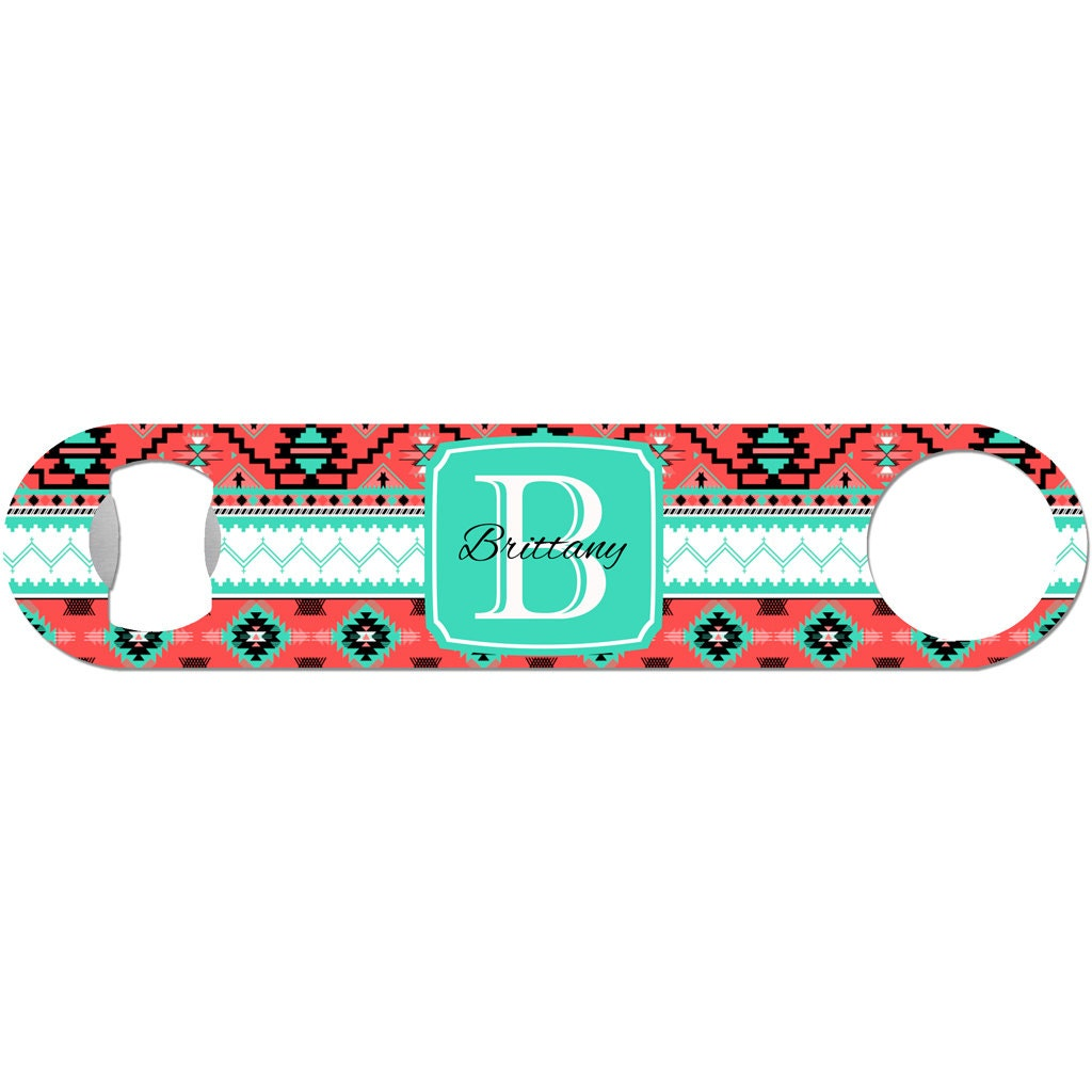 Personalized Beer Bottle Opener Custom Name Initial Monogram