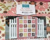 Hidden Diamonds Quilt Kit by Nellie's Needle with Zoe Pearn Indian Summer Fabric for Riley Blake Designs
