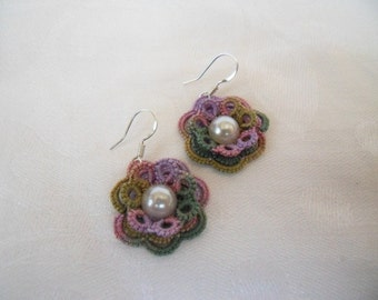 Flower Lace Earrings (Guinevere)