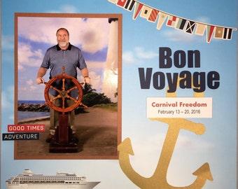 Cruise Scrapbook Album Cruise Vacation Scrapbook Album Custom Made Scrapbook Disney Cruise Scrapbook Album Scrapbooker for Hire