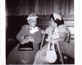 Vintage Photo - Gossiping Ladies - Vintage Photograph, Ephemera, Vernacular, Snapshot (C)
