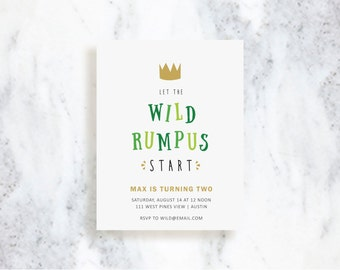 Where the Wild Things Are Invitations // Birthday Invite // Baby Shower