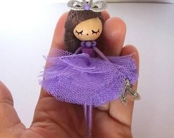 Ballerina doll brooch