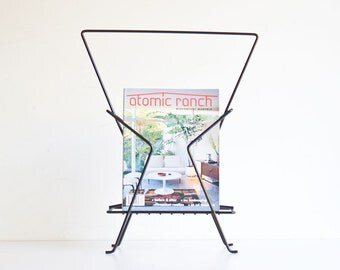 Vintage Mid Century Modern Atomic Magazine Stand