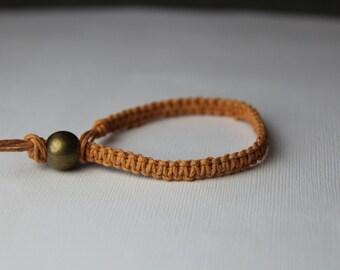 Peach / Light Orange Hemp Bracelet