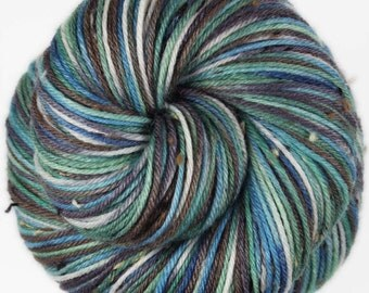 HALONA 2 Superwash Merino/Nylon Hand-dyed Variegated Tweed Fingering/Sock Yarn