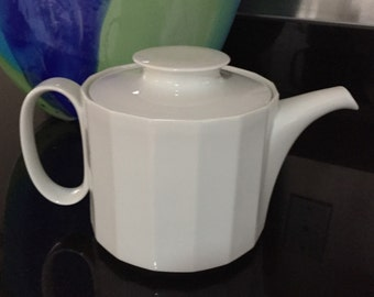 Mid Century Rosenthal Studio Line Larger White Porcelain Teapot/ Coffee Pot/ By Gatormom13