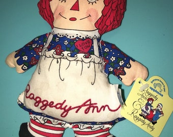vintage knickerbocker the Johnny Gruelle Raggedy Ann beanie doll toy