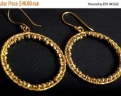 SHOP CLOSING SALE: Ashira 18k Gold Plated Faceted Hand Wired Pyrite 35mm Hoop Earrings - Matches my Necklaces