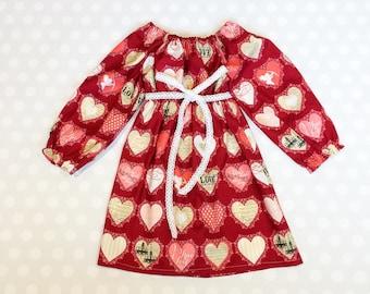Girls Valentine's Dress - Heart Dress - Kids Valentines Day - Girls Dress - Baby Girl Dress - Girls Dresses - Baby Girl Dresses - Baby Gift