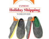 Felt Shoes - Express Holiday Shipping - DHL Express Delivery Service -  Delivery Worldwide - International Shipping in 2-4 Days -