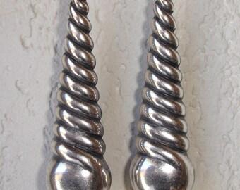 Boucles d'oreilles Art Déco  argentées
