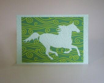 Mustang OOAK Horse Collage Art