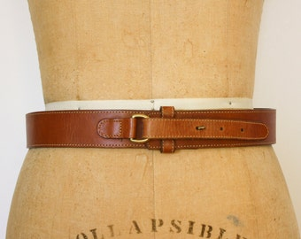 """Buckless Leather Belt - 28"""", Made in USA"""