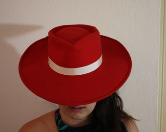 1950s Red Cowboy Hat