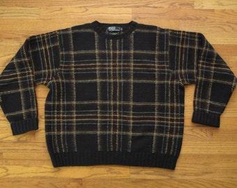 mens vintage Polo tartan sweater