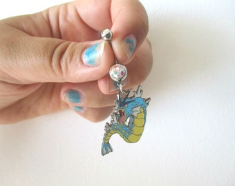 Pokémon  Bellybutton Piercing  - GYARADOS - Belly iridescent botton jewelry - Pokemon GO