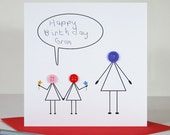 Love You Grandma Card - Mothers Day Card - Grandma Birthday - Birthday Cards for Her  - Card for Auntie