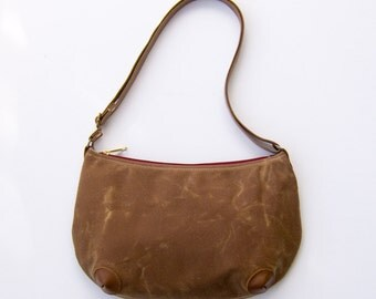 "Mini ""Round-the-World"" Bag - Cinnamon Brown (Wax)"