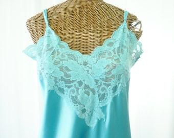 Victoria's Secret Aqua Long Nightgown Old Stock Unworn Modern Woman Size Large