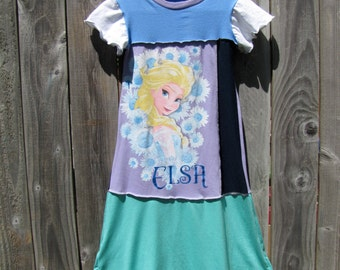 Long Live Queen Elsa Upcycled Dress Size 9/ 10