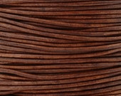 Leather-1mm Round Cord-Soft-Natural Red Brown-10 Meter Spool