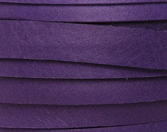 Leather-5mm Deertan Lace-Violet-50 Feet