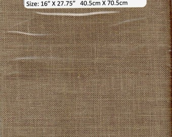 GT23 - Zweigart, Bellfast Linen, 32 count, Clay , 16 X 28  Inches, 40X 70 cm, Cut Fabric Collection