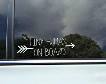 Tiny Human On Board Decal