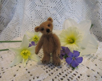 "Oliver   2.25""  Miniature Jointed OOAK Artist Teddy Bear Cub"