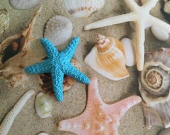 Blue Sugar Starfish Bobby pin - mermaid hair  tropical nautical, whimsical, beach girl, beach hair accessories