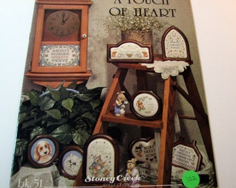 A Touch of Heart Cross Stitch booklet by Stoney Creek Collection - Book 51 - 1988