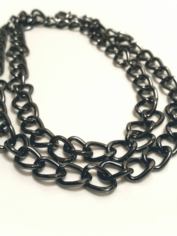 large link chain necklace choker wrap or by
