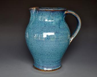 Blue Pottery Pitcher Ceramic Pitcher Stoneware Pitcher Handmade Pitcher Jug A