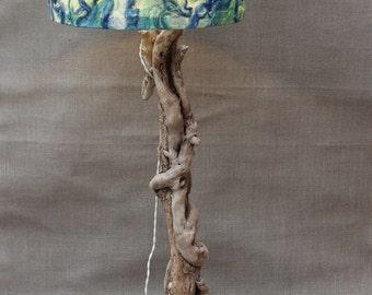 Driftwood Lamp.Drift Wood Table lamp,Driftwood Table lamp,Shade sold separately,Drift wood  Lamp,106 cm Base Hieght, Drift Wood